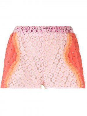 Кружевные шорты Viktor & Rolf. Цвет: розовый