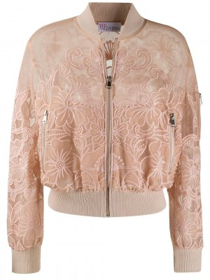 Куртка-бомбер Point dEsprit RED Valentino. Цвет: нейтральные цвета