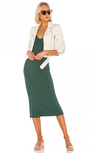 Платье миди hall Line & Dot. Цвет: зеленый