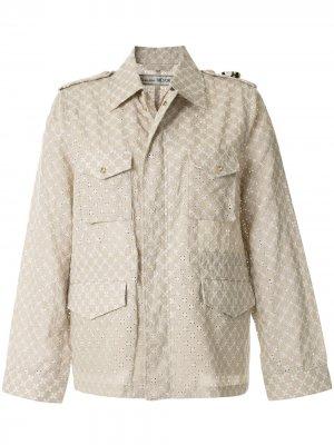 Куртка M-65 с люверсами Tu es mon TRÉSOR. Цвет: коричневый
