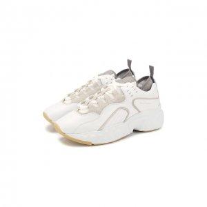 Кожаные кроссовки Manhattan Acne Studios. Цвет: белый