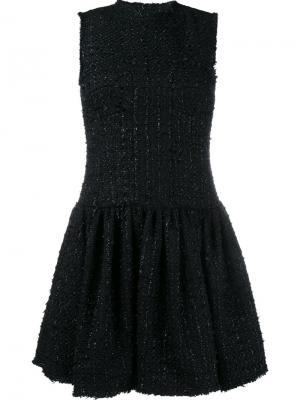 Твидовое платье-шифт Simone Rocha. Цвет: черный