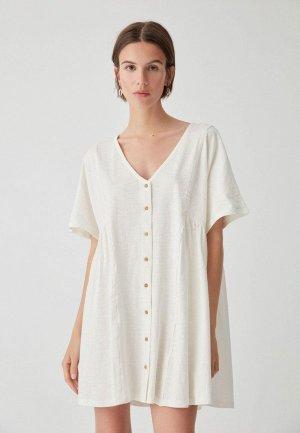 Платье Pull&Bear. Цвет: белый