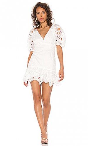 Мини платье margot Bardot. Цвет: белый