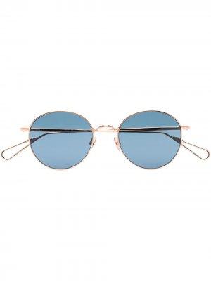Солнцезащитные очки Opera в круглой оправе Ahlem. Цвет: золотистый