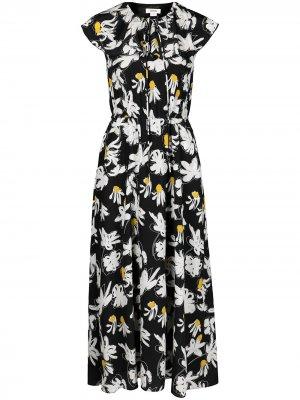Платье с цветочным принтом Jason Wu. Цвет: синий