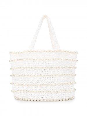Пляжная сумка-тоут Malibu 0711. Цвет: белый