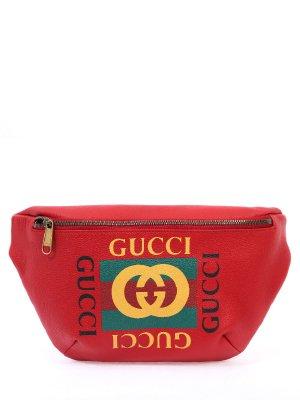 Кожаная поясная сумка GUCCI