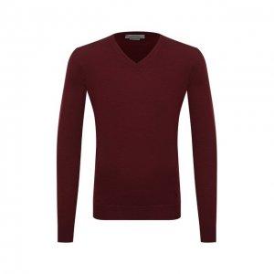 Шерстяной пуловер Corneliani. Цвет: бордовый