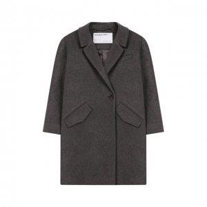 Пальто из шерсти и льна Designers, Remix girls. Цвет: серый