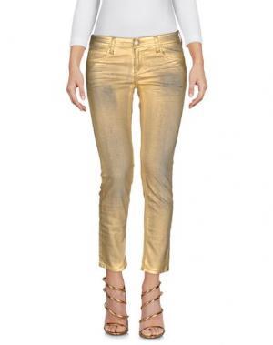 Джинсовые брюки FAITH. Цвет: золотистый