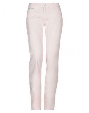 Джинсовые брюки CARE LABEL. Цвет: светло-розовый