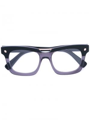 Очки в прямоугольной оправе стиле колор-блок Dsquared2 Eyewear. Цвет: чёрный