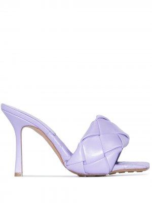 Босоножки Lido 90 Bottega Veneta. Цвет: фиолетовый