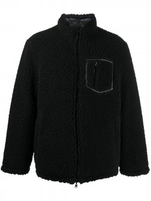 Шуба из шерпы с накладными карманами STAND STUDIO. Цвет: черный