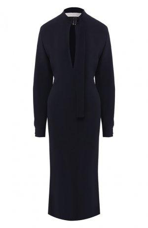 Платье-миди Victoria Beckham. Цвет: темно-синий