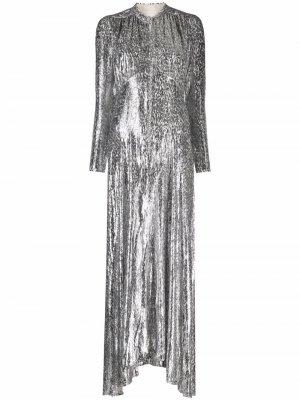 Leopard-pattern metallic gown Paco Rabanne. Цвет: серебристый