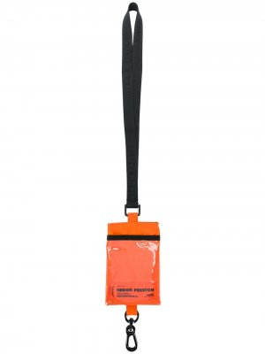 Картхолдер со шнурком на шею Heron Preston. Цвет: оранжевый