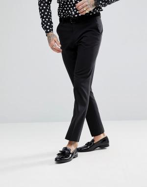 Черные брюки узкого кроя -Черный ASOS DESIGN