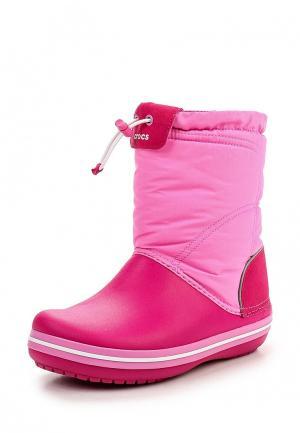 Дутики Crocs Crocband Lodge Point Boot Kids. Цвет: розовый