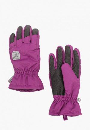 Перчатки Hofler. Цвет: фиолетовый
