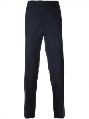 Классические брюки Fashion Clinic Timeless. Цвет: синий
