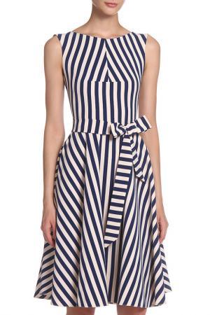 Платье IQDRESS. Цвет: сине-бежевая полоска