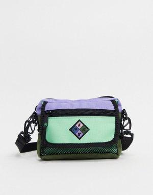 Мятно-лавандовая сумка через плечо с клапаном и молнией -Мульти Lazy Oaf