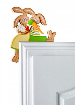 Фигурка надверная Зайцы (1 шт.) bonprix. Цвет: зеленый