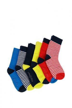 Носки, 6 пар PlayToday. Цвет: разноцветный