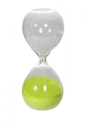 Песочные часы 8x8x20 см ГЛАСАР. Цвет: прозрачный, зеленый