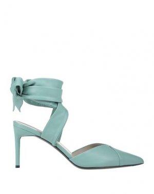 Туфли MAX MARA. Цвет: светло-зеленый