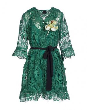 Короткое платье ANNA SUI. Цвет: темно-зеленый