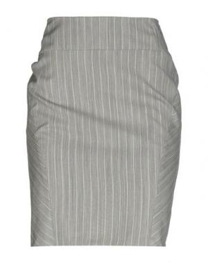 Юбка до колена FRANCESCA FERRANTE. Цвет: серый