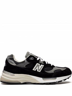 Кроссовки Made in US 992 New Balance. Цвет: черный
