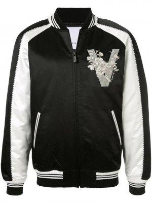 Куртка-бомбер дизайна колор-блок Ports V. Цвет: черный