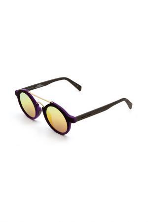 Очки солнцезащитные Italia Independent. Цвет: 009 017 фиолетовый, золотистый