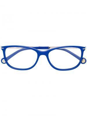 Очки в прямоугольной оправе Ch Carolina Herrera. Цвет: синий