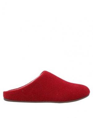 Домашние туфли FITFLOP. Цвет: красно-коричневый