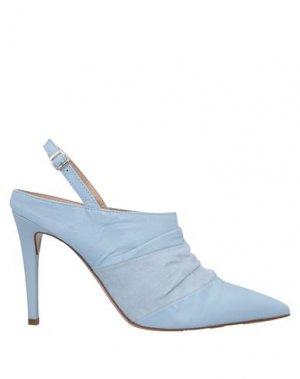 Полусапоги и высокие ботинки FORMENTINI. Цвет: небесно-голубой