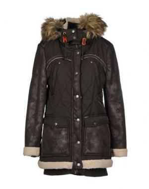 Куртка KHUJO. Цвет: темно-коричневый