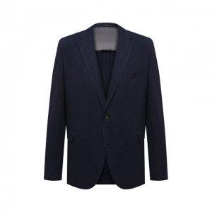Пиджак из шерсти и хлопка Eduard Dressler. Цвет: синий
