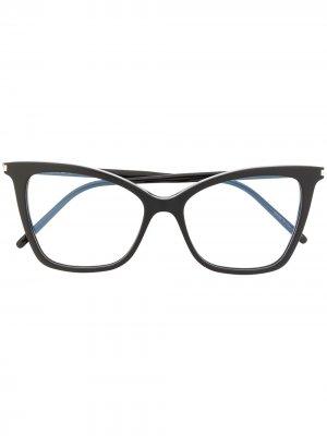 Очки SL386 в оправе кошачий глаз Saint Laurent Eyewear. Цвет: черный