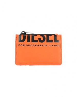 Чехол для документов DIESEL. Цвет: оранжевый