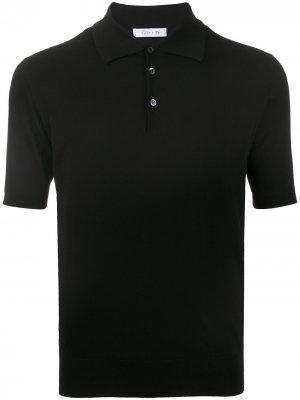 Рубашка поло тонкой вязки Cruciani. Цвет: черный