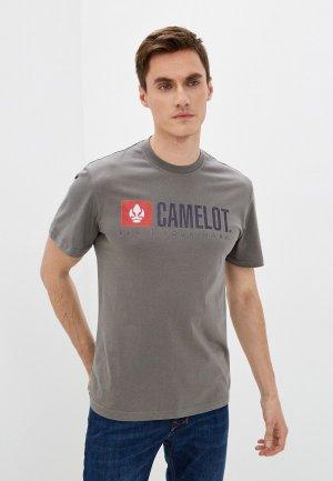 Футболка Camelot. Цвет: хаки