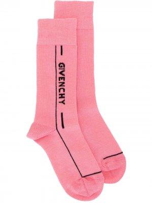 Носки с логотипом Givenchy Kids. Цвет: розовый