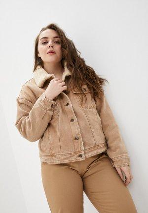 Куртка джинсовая Befree. Цвет: коричневый