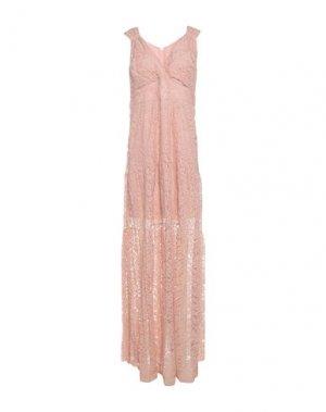 Длинное платье HANITA. Цвет: пудровый