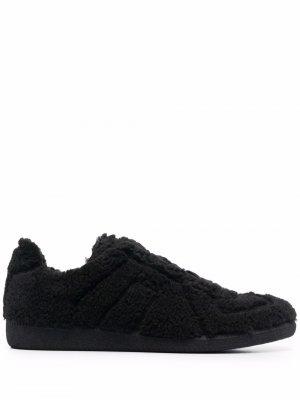 Replica shearling sneakers Maison Margiela. Цвет: черный
